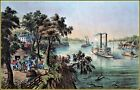 Currier & Ives |  Low Water in The Mississippi  Art Print