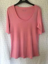M&S Ladies Light Pink Half Sleeve Scoop Neck T Shirt, Size 14
