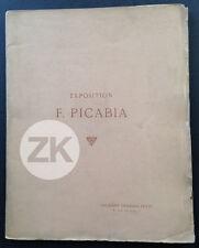 FRANCIS PICABIA Exposition Gravure Pre-DADA Tableaux Paysage Catalogue 1909