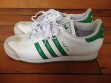 Adidas Samoa Classic White Green Leather Mens Athletic Sneakers Shoes 10 44