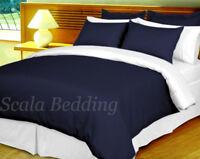 100% Egyptian Cotton 1000TC 1 Piece Reversible Stripe Duvet Cover All Size/Color