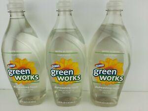 3 ~ Green Works Dishwashing Liquid ~ 98% Naturally derived ~ Original ~ 22 oz