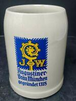JW Augustiner Brau Munchen Gegrundet 1328 Stonewa Beer Stein Mugs Munich Germany