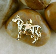 22k gold plated 3D Cow charm