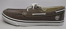 Timberland Size 9.5 Brown Canvas Boat New Mens Shoes