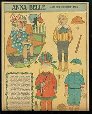 1908 Anna Belle  and her Brother Jack Newspaper Paper Doll