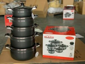 5pc Non Stick Coating Stock Pot Deep Casserole Set Cooking Pot Set 20cm to 28cm