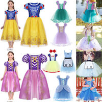 Kids Girls Fairytale Princess Costume Fancy Dress Up Party Cosplay Outfit Dress