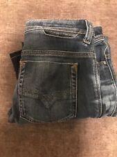 DIESEL SAFADO Jeans Size 29W 32L Mens Blue Reg Slim Straight Blue
