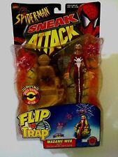 MADAME WEB W/ TECH-WEB CATCHER MARVEL COMICS SPIDER-MAN SNEAK ATTACK TOYBIZ '98