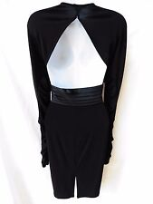 $300 SUE WONG Womens Open Back Ruched Gatsby Retro Disco Mod Formal Dress Gown 6