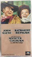 """Rooster Cogburn and the Lady"" (VHS Tape 1990 1975) John Wayne Katharine Hepburn"