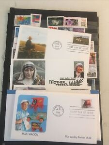 Collection Of First Day Covers And Stamps Per-fins Recent Priority F103