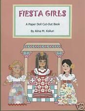 10-Doll Fiesta Girls Hispanic Paper Dolls-2nd in Series