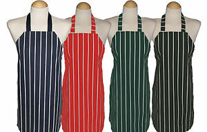 5 - 8 yrs Childs apron / Kids Cotton Apron Butchers Stripe ** Made in UK  **