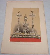 1863 Antique Chromolithograph Print// SILVER WEDDING PRESENT //p65