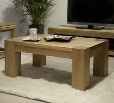 Pemberton solid oak living room lounge furniture small coffee table