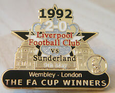 LIVERPOOL v SUNDERLAND Victory Pins 1992 FA CUP FINAL Badge Maker Danbury Mint