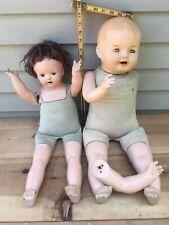 Antique,Vintage,bisque,pa per machete,dolls & clothing
