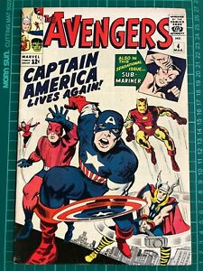 Avengers #4 - 1st Silver Age appearance of Captain America - Great looking copy!