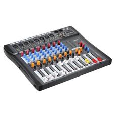 8 Channel Digtal Mic Line Audio Mixing Mixer Console With 48v Phantompowers2b0