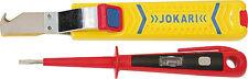 JOKARI Abisolierer Kabelmesser Knife 28 Secura für NYM Kabel + Phasenprüfer rot