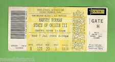 #D117. 2004  STATE OF ORIGIN  RUGBY LEAGUE USED TICKET