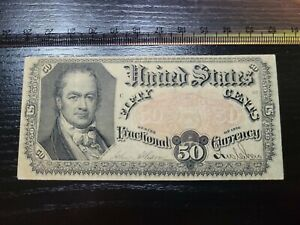 🇺🇸 United States 50 cents 1875 FRACTIONAL CURRENCY  FR-1381  banknote 081921-2