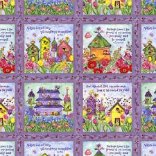 Birdhouse Gardens Panel 28 Individual Panels 100% Cotton Quilting Fabric