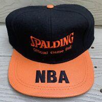 Spalding Basketball Hat Strapback Cap Black NBA NWT Deadstock 90s