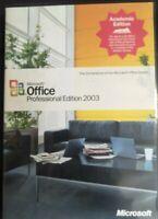 Microsoft Office Professional 2003 Academy Edition VGC