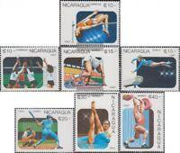 Nicaragua 2807-2813 (kompl.Ausg.) postfrisch 1987 Panamerikanische Spiele