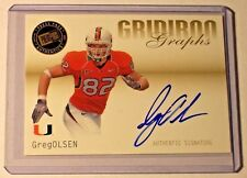 2007 Press Pass SE Gridiron Graphs Gold Autograph Greg Olsen Miami Panthers