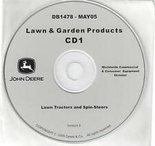 John Deere Lawn Tractors Including Spin-Steer 10 Technical Manuals on Cd.Db1478