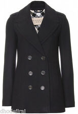 Authentic BURBERRY BRIT BNWT VIrgin Wool/Cashmere Navy Peacoat Au 12 Free P&H