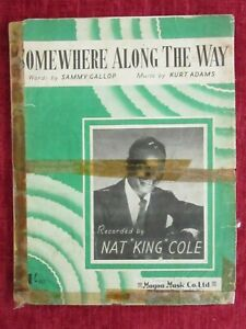 1952 Vintage Sheet Music Nat King Cole Somewhere Along The Way  fc23