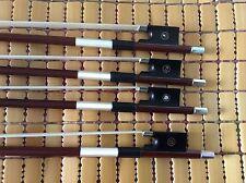 4pcs of Violin Bows 4/4 size copper Mounted ebony frog Brazil wood