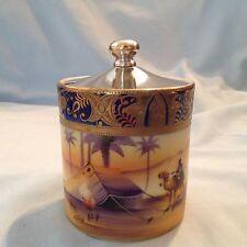 Giapponese-Egyptian revival STYLE preservare jam pot CAMMELLO China-Firmato