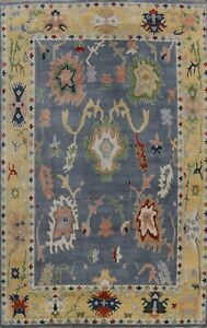 Traditional Geometric Oushak Oriental Hand-knotted Area Rug Dining Room 9x12