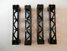 LEGO TECHNIK   4 vertikale Träger / Säulensteine  95347 in schwarz 2x2x10   NEU