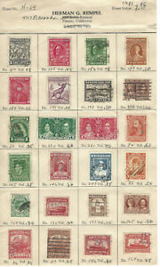 97 Newfoundland Stamps on Stock Sheets