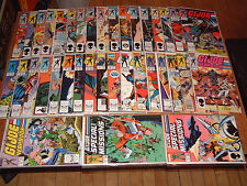 LOT OF 37 MARVEL G.I. JOE COMICS; regular series yearbook special missions 1 2