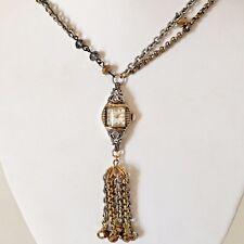 Victorian Wedding Necklace Watch Pendant Vintage Gold Tone Steampunk Handmade 4