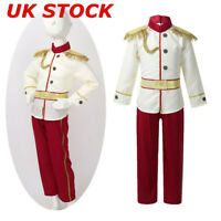 Kids Prince Costume Medieval Royal Boys Fancy Dress Outfit Role Play Performance