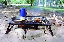 Camping Bbq Grill Outdoor Portable Barbecue Picnic Campfire Camp Cooking Grate