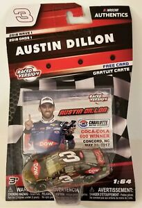 2018 Wave 1 NASCAR Authenics #3 Austin Dillon 1:64 Scale Chevy SS Raced Version