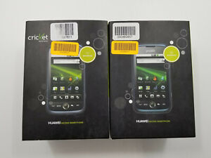 Huawei Ascend M860 Blue Cricket 256MB Check IMEI Lot of 2 -BT7535