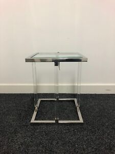 Culinary Concepts Square Side Table With Acrylic Legs (Ex Display)