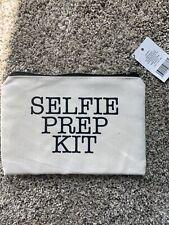 """Selfie Prep Kit"" CANVAS PURSE COSMETICS MAKE-UP POUCH WALLET BAG"