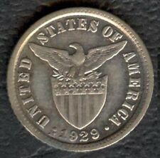 1929-M US Administration Philippines 10 CENTAVOS Silver Coin - Stock #1